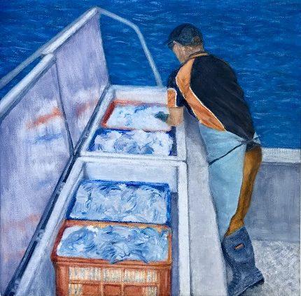 At Sea Shark Bay oil on canvas by Sue Helmot Artist who is based in Carnarvon in the Gascoyne region of Western Australia