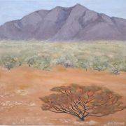 Eye Spy Mt Augustus oil on canvas by Sue Helmot Artist who is based in Carnarvon in the remote Gascoyne region of Western Australia