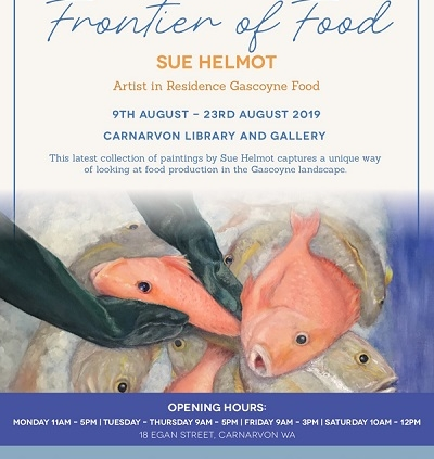 Promotional poster for Sue Helmot's solo exhibition Frontier of Food