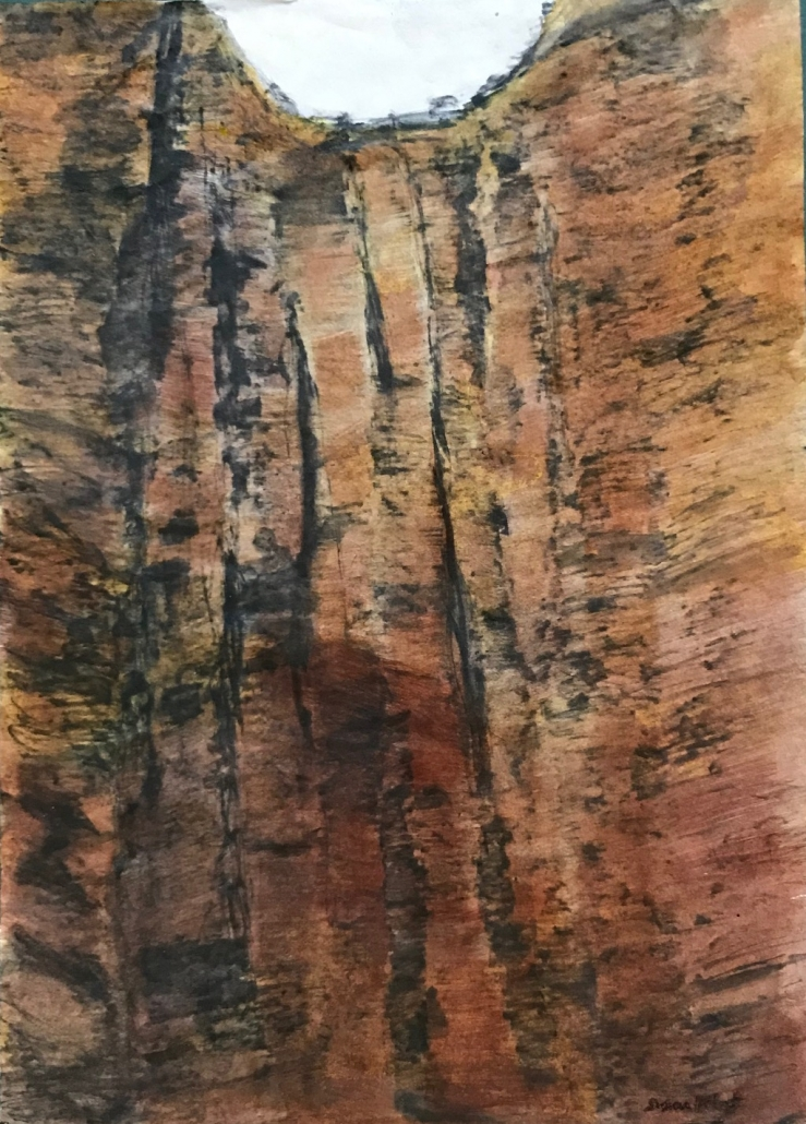 Kimberley Landscape pencil and ink on rice paper by Sue Helmot Artist