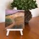 Outback landscape oil on ceramic Sue Helmot