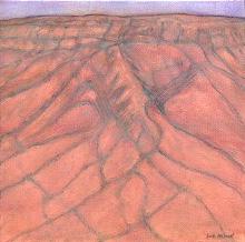 Dusk Mt Augustus oil on canvas by Sue Helmot