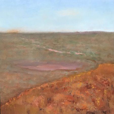 View From the Top Kennedy Range geology oil on canvas Sue Helmot Australian landscape painter
