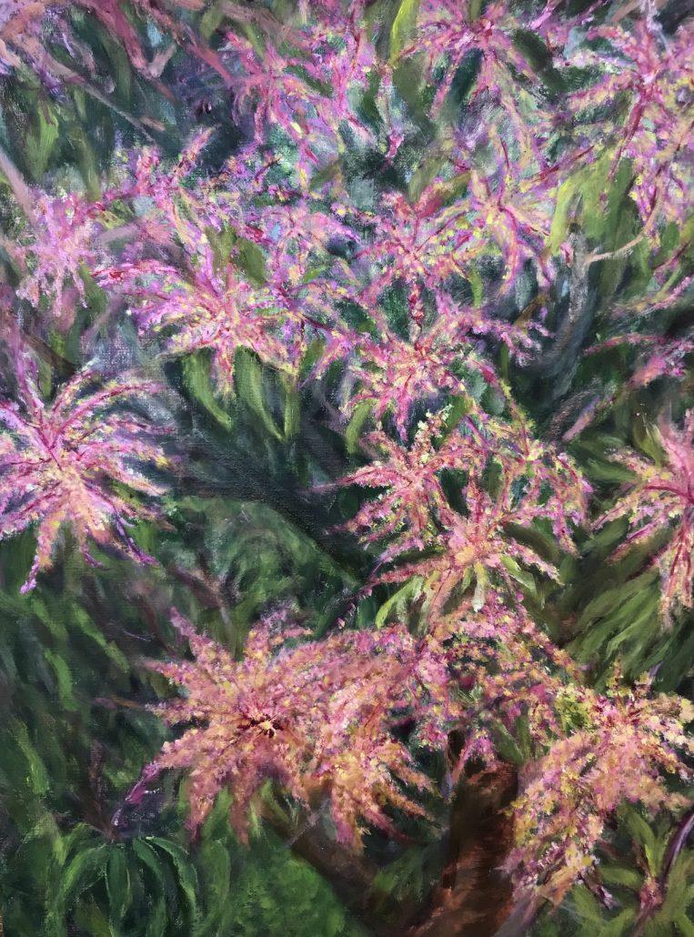 Mango Tree in Bloom Sue Helmot Australian landscape painter