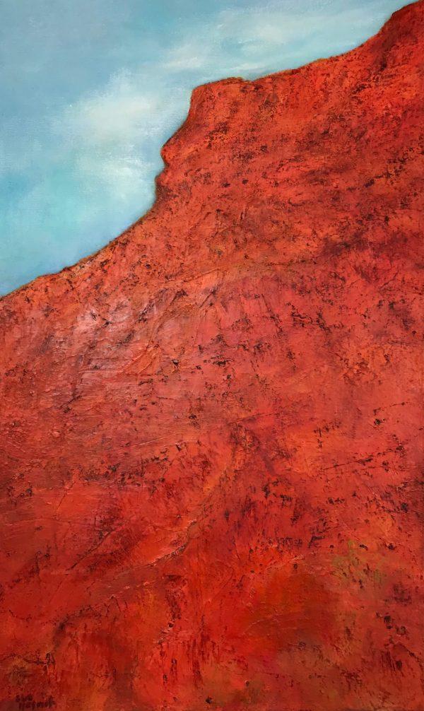 Heart of The Outback oil on canvas Sue Helmot Australian landscape painter Kennedy Range Western Australia
