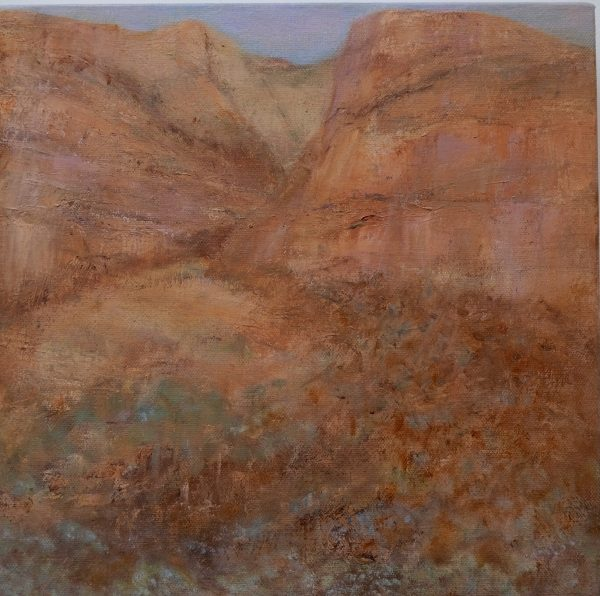 Timeless Land Temple Gorge Sue Helmot Australian artist