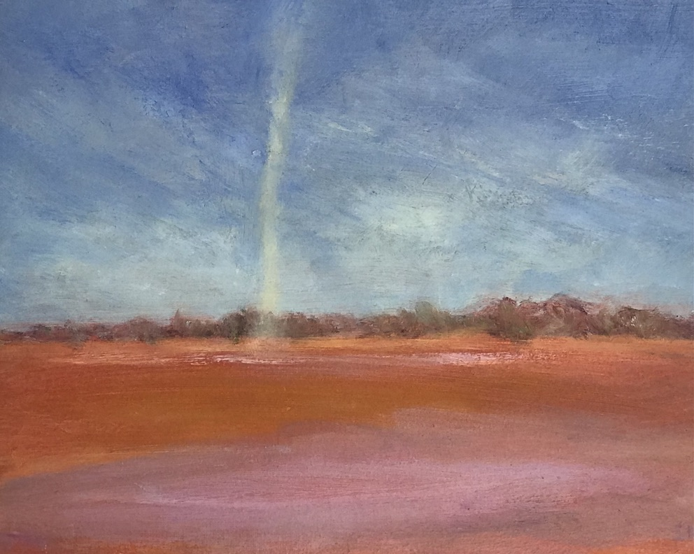 Claypan Willy Willy Sue Helmot Australian landscape painter