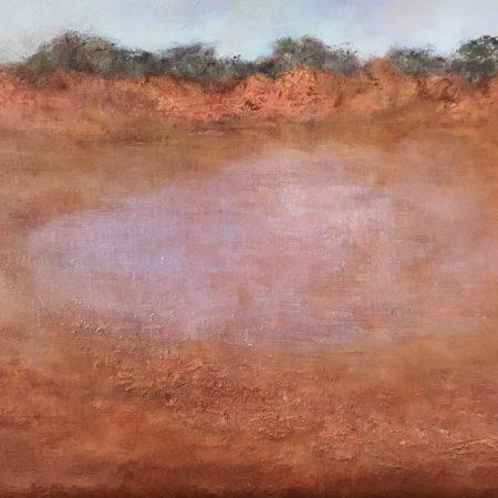 Shimmering Claypan Kennedy Range oil on canvas Sue Helmot Artist
